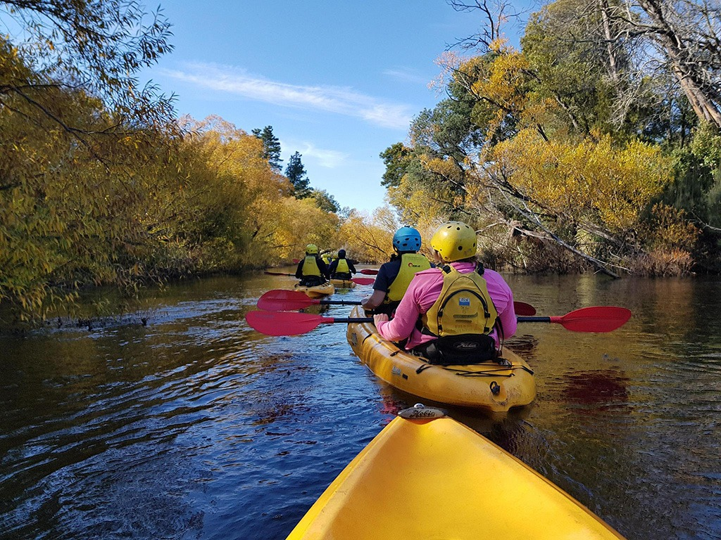 Womens retreat kayaking